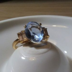 Jewelry - Estate Blue Topaz  Colored Cocktail Ring 18KEG